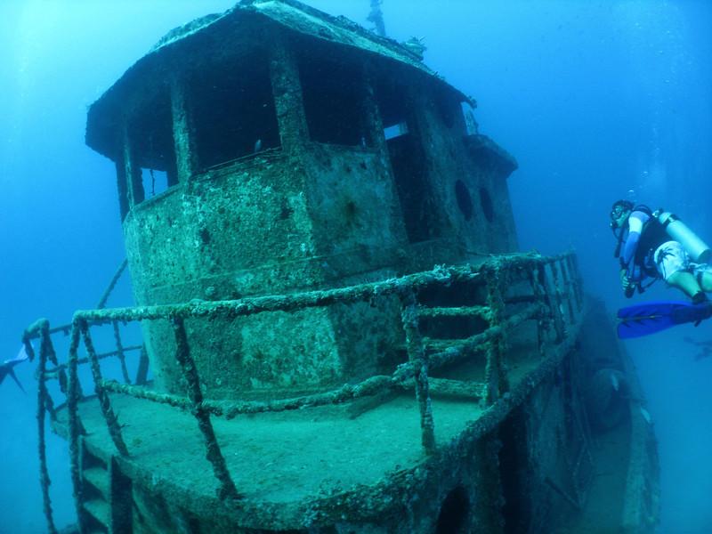 The ship's intact pilot house.