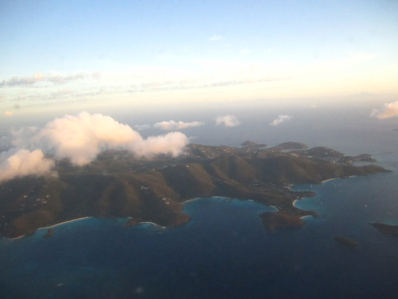Flying into Tortola, one of the British Virgin Islands....I like the view already!