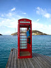 Since this is the British Virgin Island, they have an old phone booth right out of Great Britain, and it even works! It also had a web cam to share your photos with ;)