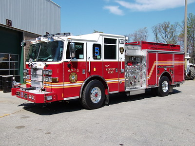 Squad 5's 2012 Pierce after being delivered in 2012