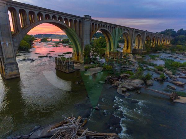 Sunset at the CSX A-Line Bridge - Richmond, VA