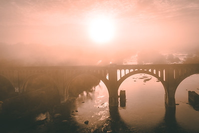 Foggy Sunrise at the A-Line Bridge in Richmond, VA