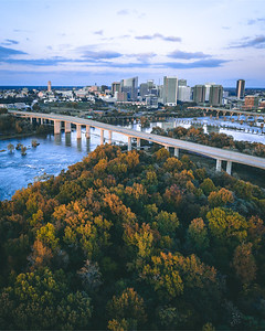 Downtown Richmond, VA on the James River