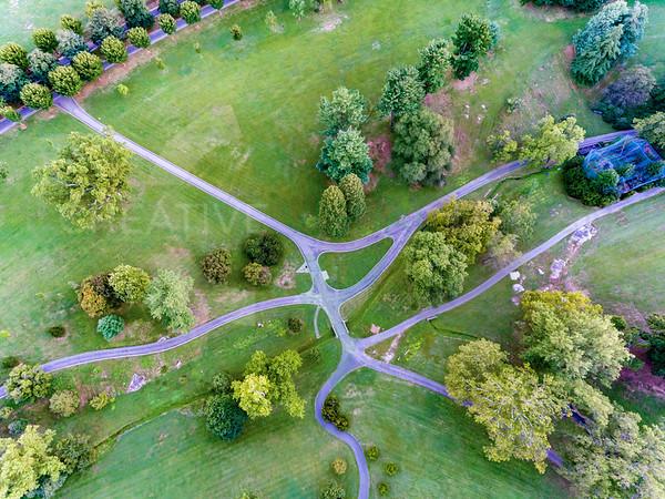 Straight Down Over Maymont Park - Richmond, VA