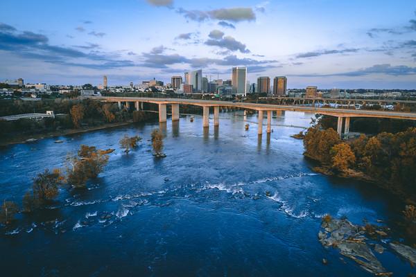 Downtown Richmond, VA on the James River