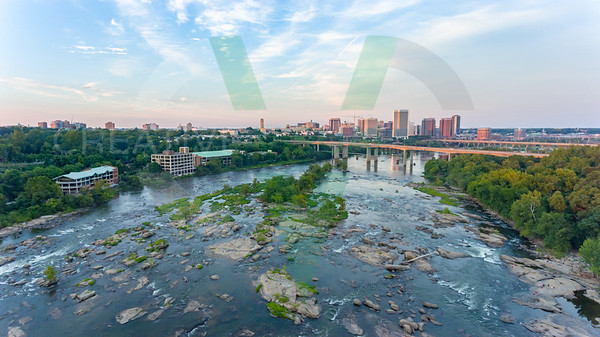 Downtown Richmond, VA from Belle Isle