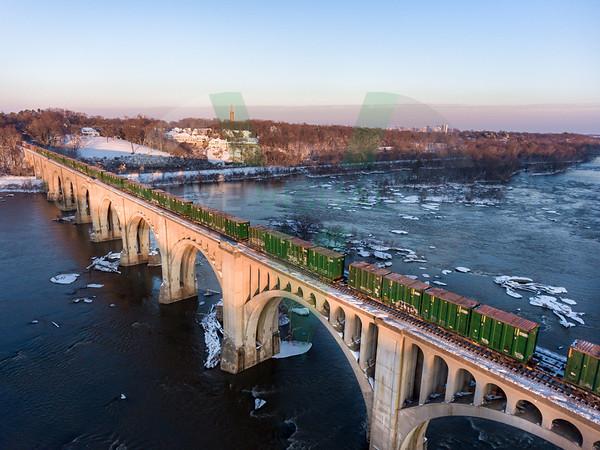 Snowy CSX A-Line Bridge - Richmond, VA