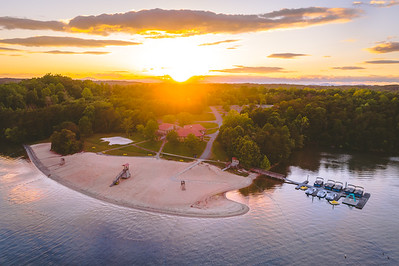 Smith Mountain Lake Beach at Sunset