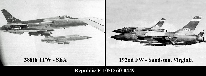 F-105D 60-0449 collage