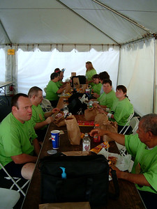 Lunch break at Volleyball competition