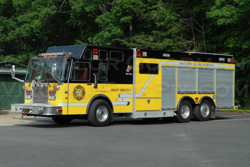 Holly Grove Volunteer Fire Department<br /> Louisa County, VA<br /> Heavy Rescue 4<br /> 1995 Spartan/4-Guys<br /> Ex-Manchester, NH HazMat Unit
