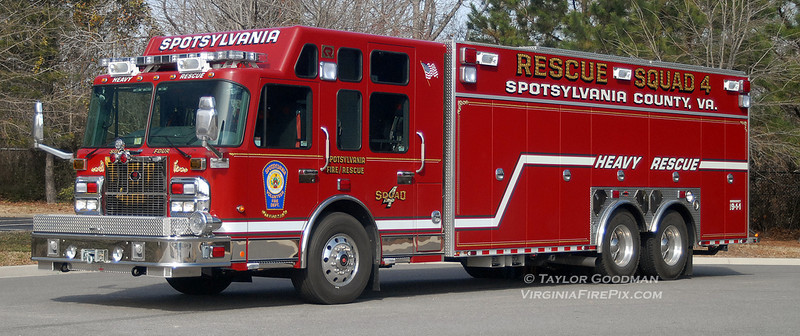 Spotsylvania Volunteer Fire Department<br /> Spotsylvania County, VA<br /> Rescue Squad 4<br /> 2010 Spartan Gladiator/Rosenbauer