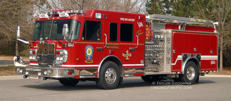 Spotsylvania Volunteer Fire Department<br /> Spotsylvania County, VA<br /> Wagon 1<br /> 2010 Spartan Gladiator/Rosenbauer<br /> (Identical rig delivered to Engine 4)