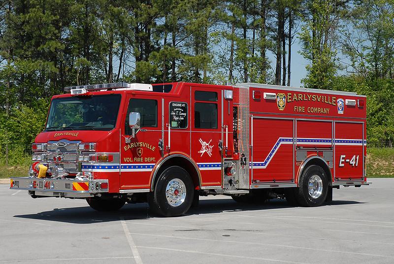 Earleysville VFD<br /> Albemarle County, VA<br /> Engine 41<br /> 2009 Pierce Velocity PUC