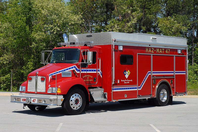 Earleysville VFD<br /> Albemarle County, VA<br /> Haz-Mat 47<br /> Kenworth T-300/Pierce Encore
