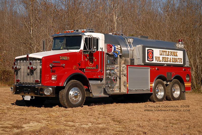 Little Fork VFD<br /> Culpeper County, VA<br /> Tanker 9<br /> 2004 Kenworth T800/S&S 1250/3500<br /> S&S SN #5537