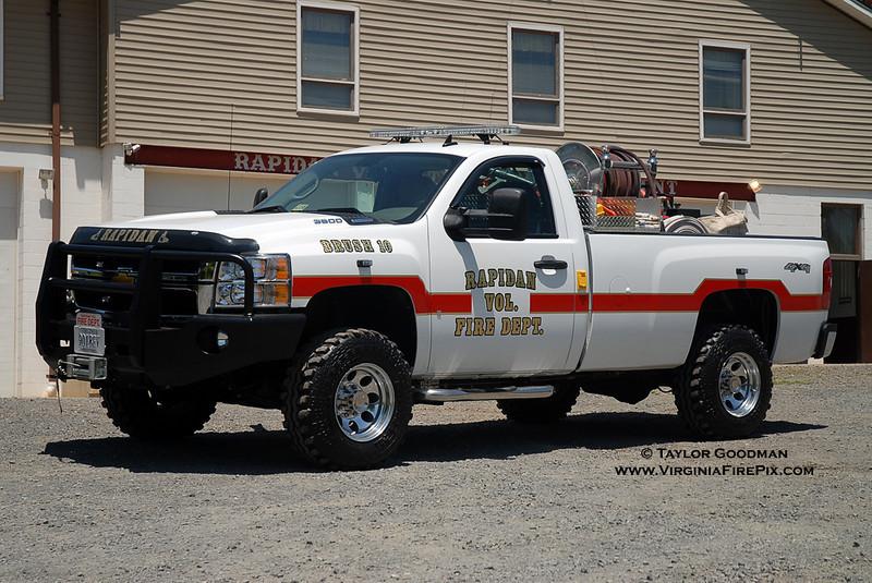 Rapidan VFD<br /> Culpeper County, VA<br /> Brush 10<br /> 2008 Chevrolet/FD/CET 250/200/8