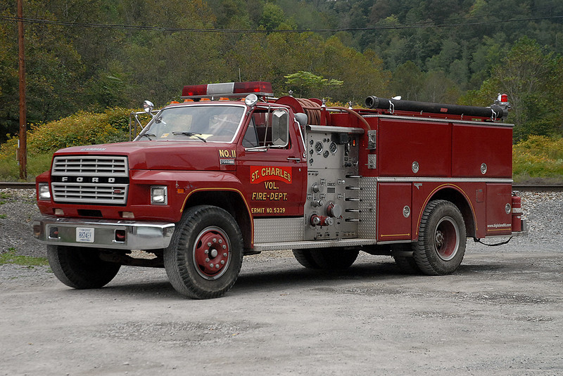 Engine 11 was donated to the St. Charles VFD by the Big Island VFD in Bedford County, VA.
