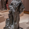 Rodin: Evolution of a Genius, exhibition of ~200 works of French sculptor Francois Auguste Rene Rodin (Auguste Rodin, 1840-1917), by Montreal Museum of Fine Arts & Musee Rodin in Paris, at Virginia Museum of Fine Arts November 21, 2015-March 13, 2016; includes plaster models, sketches, photos, bronze and marble pieces; photos allowed without flash - used 5D Mark III w/Canon 35/1.4 & UV filter; Rodin considered sketches heart of his work, with most sculpting in marble or casting in bronze done by others, under his supervision; final form of Monument to Balzac, which went through many phases (nude model; terra cotta work on cape, or robe; change from realistic likeness of Balzac's physique to figure with less of a pot belly, etc), 1891-98, caused such outrage when unveiled 1898 that the commission was cancelled, & Rodin never saw the work cast in bronze (done in 1935 for Musee Rodin collection); Musee Rodin notes say the work was too innovative, & head had come to be more a group of expressive elements than a likeness of Balzac