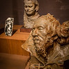 Rodin: Evolution of a Genius, exhibition of ~200 works of French sculptor Francois Auguste Rene Rodin (Auguste Rodin, 1840-1917), by Montreal Museum of Fine Arts & Musee Rodin in Paris, at Virginia Museum of Fine Arts November 21, 2015-March 13, 2016; includes plaster models, sketches, photos, bronze and marble pieces; photos allowed without flash - used 5D Mark III w/Canon 35/1.4 & UV filter; Rodin considered sketches heart of his work, with most sculpting in marble or casting in bronze done by others, under his supervision