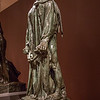 """Rodin: Evolution of a Genius, exhibition of ~200 works of French sculptor Francois Auguste Rene Rodin (Auguste Rodin, 1840-1917), by Montreal Museum of Fine Arts & Musee Rodin in Paris, at Virginia Museum of Fine Arts November 21, 2015-March 13, 2016; includes plaster models, sketches, photos, bronze and marble pieces; photos allowed without flash - used 5D Mark III w/Canon 35/1.4 & UV filter; Rodin considered sketches heart of his work, with most sculpting in marble or casting in bronze done by others, under his supervision; Gallery 8 ends exhibit with several well-known Rodin works, with large versions of The Burghers of Calais at rear; in 1347, during Hundred Years' War, King Edward III of England offered to spare Calais if any 6 leaders surrendered with ropes around their necks & with keys of city; Rodin won 1884 competition to memorialize sacrifice made by the citizens (burghers, esp wealthy citizens), although in end the 6 were spared at urging of Edward's wife; monument completed 1889, Rodin's rendering controversial as it depicted """"pain, anguish, and fatalism"""", which he felt showed heroic self-sacrifice; the 6 figures somewhat largers than life,  it's among Rodin's most famous works; Jean d'Aire"""