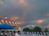 Taken with SmugShot on my iPhone, Threatening skies at the swim meet.