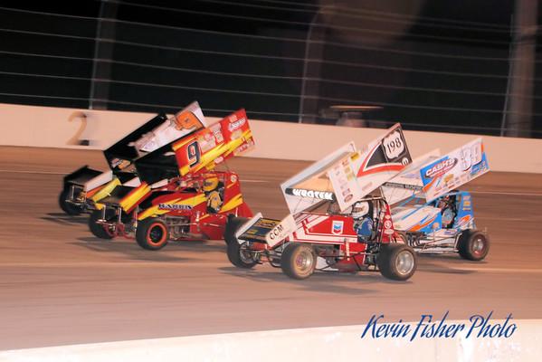 VSS Sprint cars at Shenandoah Speedway - 10/10/15
