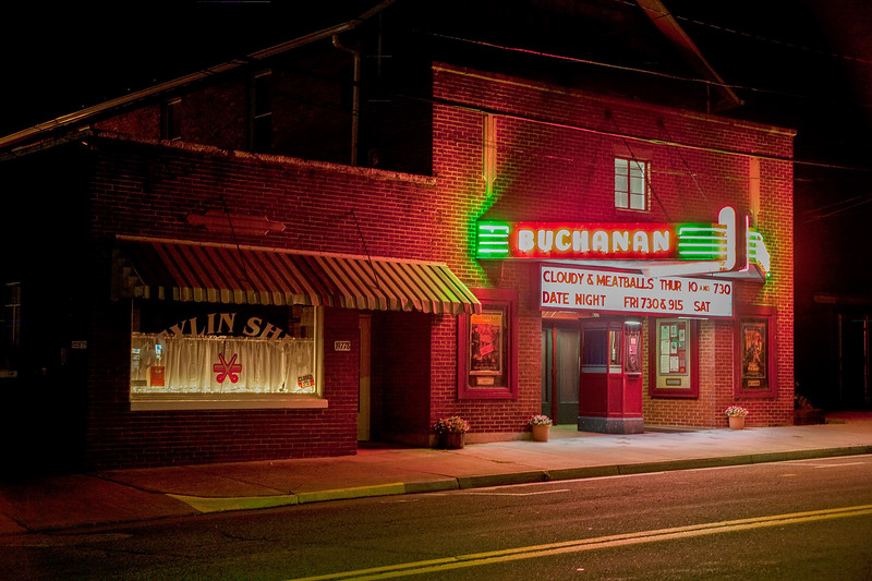 """""""Cloudy and Meatballs"""" playing at the old Buchanan Theater"""