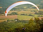 Parasailing down the mountain, Eagle Rock, Botetourt County