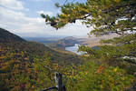 View of Carvins Cove from Appalachian Trail on Tinker Mountain, Botetourt Co.
