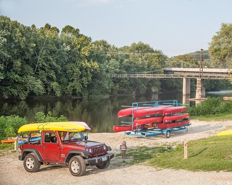 The James River and Swinging Bridge in Buchanan, Va.
