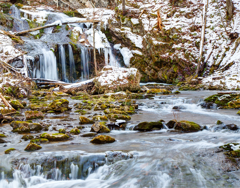 Cascades Gorge in the Winter