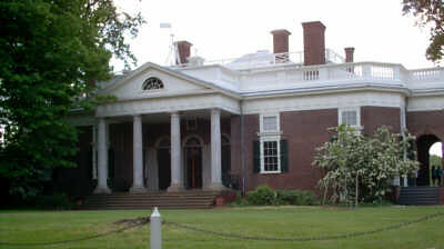 Monticello, front view, May 2006
