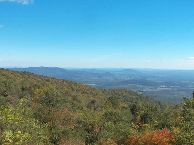 view from Hogwallow Overlook, Skyline Drive, Shenandoah National Park, October 16, 2015