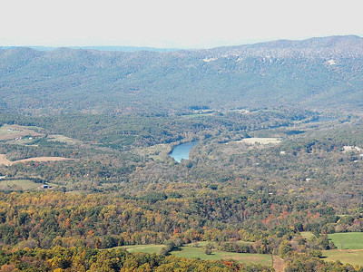 Shenandoah River, seen from Signal Knob Overlook, Skyline Drive, Shenandoah National Park, October 16, 2015