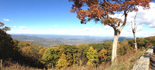view from Browntown Valley Overlook, Skyline Drive, Shenandoah National Park, October 16, 2015