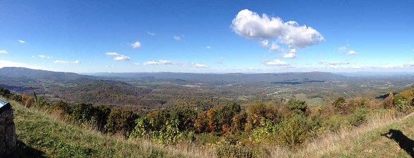 view from Signal Knob Overlook, Skyline Drive, Shenandoah National Park, October 16, 2015
