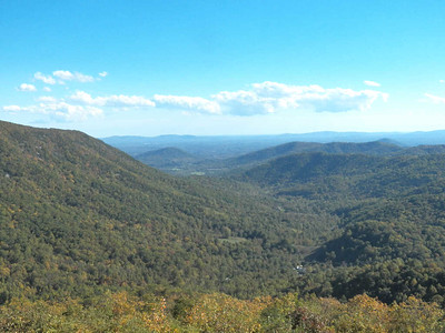 view from the Skyline Drive