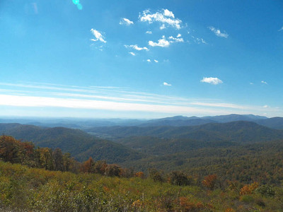 view from Range View Overlook, Skyline Drive, Shenandoah National Park, October 16, 2015