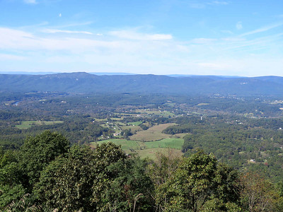 view from an unnamed overlook at the north end of Skyline Drive, Shenandoah National Park, October 19,2018
