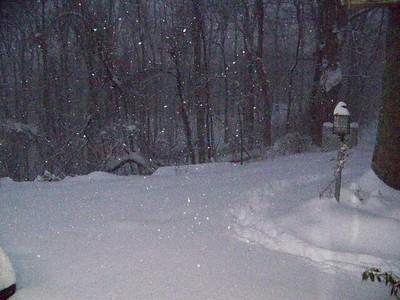 snowstorm, Troutville, VA, 12/19/09