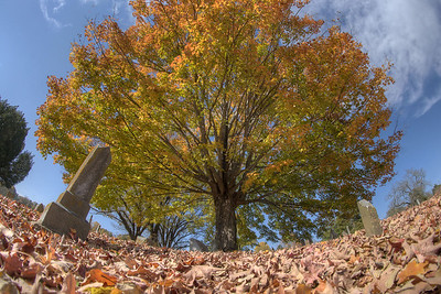 Brilliant colors fill Sinking Spring Cemetery in Abingdon, VA on Monday, October 27, 2014. Copyright 2014 Jason Barnette