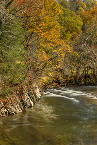 A few colors remain along the river at Alvarado Station in Abingdon, VA on Monday, October 27, 2014. Copyright 2014 Jason Barnette