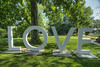 The LOVE sign, a marketing effort by the Virginia Tourism Corporation, on the grounds of the Martha Washington Hotel & Spa in Abingdon, VA on Wednesday, June 12, 2013. Copyright 2013 Jason Barnette