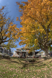 Big, colorful trees surround Peppermill Restaurant on Main Street in Abingdon, VA on Monday, October 27, 2014. Copyright 2014 Jason Barnette