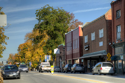 Bright fall colors along Main Street in Abingdon, VA on Friday, October 17, 2014. Copyright 2014 Jason Barnette