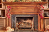 A warm and cozy fireplace inside the library at the Martha Washington Hotel & Spa in Abingdon, VA on Tuesday, December 10, 2013. Copyright 2013 Jason Barnette