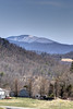 Snow covers the top of Whitetop Mountain, seen from Highway 58 near Abingdon, VA on Monday, March 31, 2014. Copyright 2014 Jason Barnette