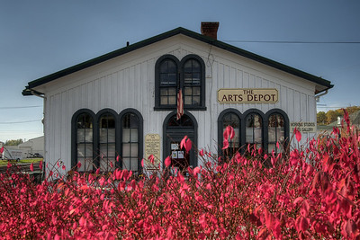 Deep reds surround the Arts Depot in Abingdon, VA on Monday, October 27, 2014. Copyright 2014 Jason Barnette