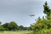 A view of a plane landing over Gravelly Point Park, a public park with a view of planes landing and taking off at Ronald Reagan Washington National Airport, in Arlington, VA on Monday, August 18, 2014. Copyright 2014 Jason Barnette